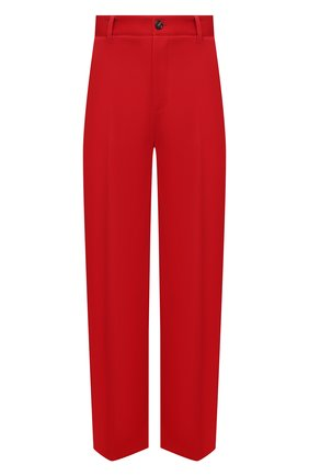 Мужские шерстяные брюки BOTTEGA VENETA красного цвета, арт. 653072/V0B20 | Фото 1 (Длина (брюки, джинсы): Стандартные; Случай: Повседневный; Стили: Минимализм; Материал внешний: Шерсть)