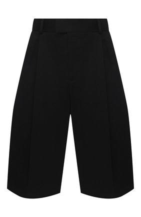 Мужские хлопковые шорты BOTTEGA VENETA черного цвета, арт. 652538/VF4T0   Фото 1