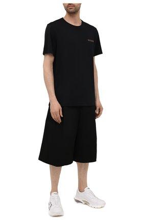 Мужские хлопковые шорты BOTTEGA VENETA черного цвета, арт. 652538/VF4T0   Фото 2