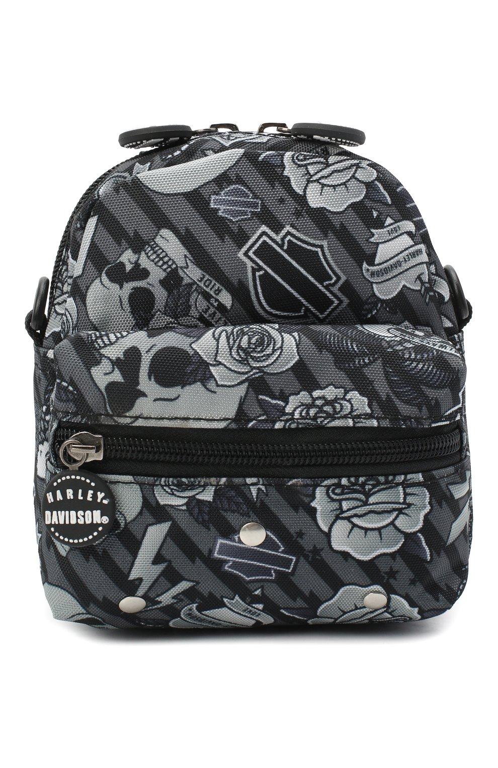 Детская рюкзак HARLEY-DAVIDSON серого цвета, арт. 99668 | Фото 1 (Материал: Текстиль)
