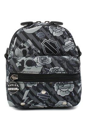 Детская рюкзак HARLEY-DAVIDSON серого цвета, арт. 99668 | Фото 1