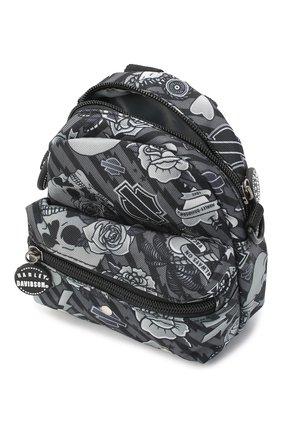 Детская рюкзак HARLEY-DAVIDSON серого цвета, арт. 99668 | Фото 3 (Материал: Текстиль)