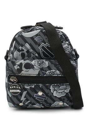 Детская рюкзак HARLEY-DAVIDSON серого цвета, арт. 99668 | Фото 4 (Материал: Текстиль)