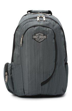 Мужской рюкзак HARLEY-DAVIDSON серого цвета, арт. 99915   Фото 1 (Материал: Текстиль)