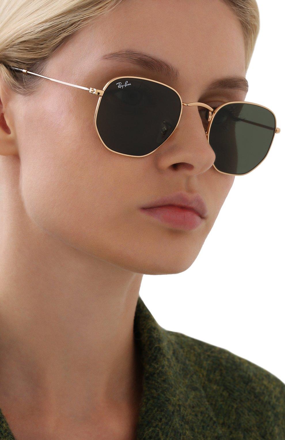 Женские солнцезащитные очки RAY-BAN черного цвета, арт. 3548N-001 | Фото 2