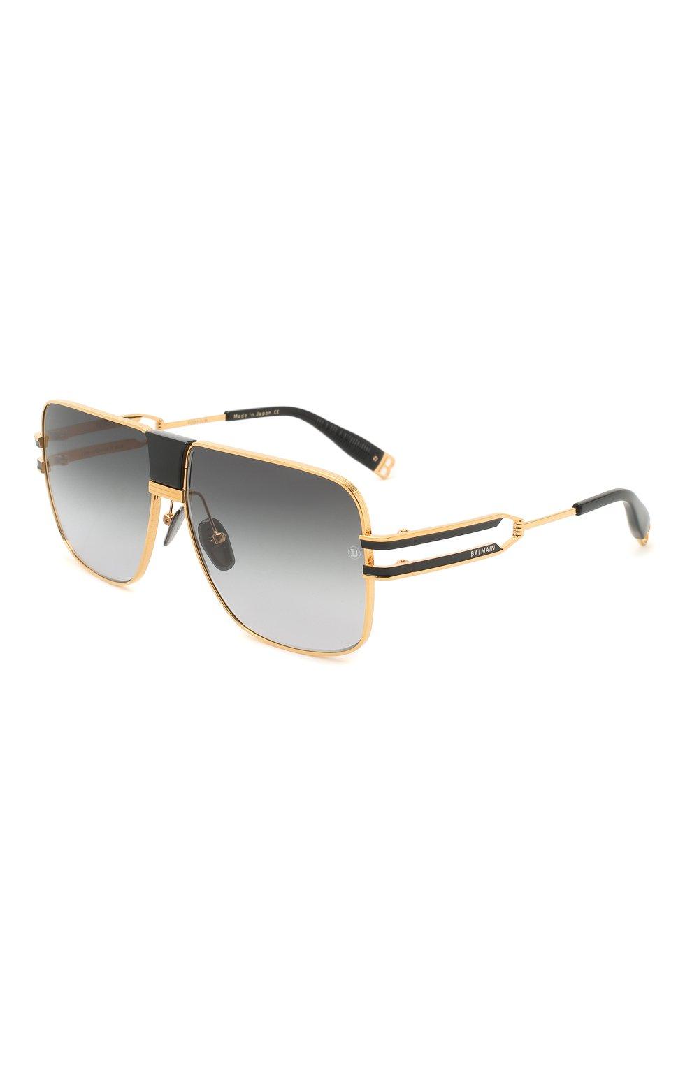 Мужские солнцезащитные очки BALMAIN черного цвета, арт. BPS-103A | Фото 1