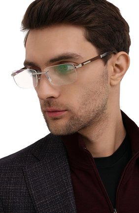 Мужские оправа ZILLI коричневого цвета, арт. ZI-60031 C06 | Фото 2