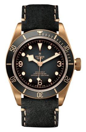 Мужские часы black bay bronze TUDOR темно-серого цвета, арт. 79250BA/CALF/SLATE GREY | Фото 1