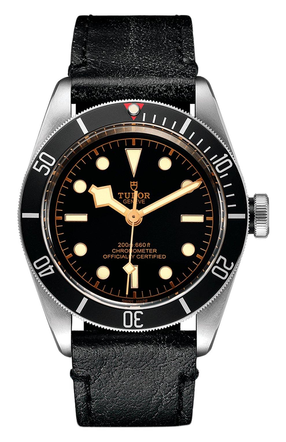 Мужские часы black bay TUDOR бесцветного цвета, арт. 79230N/CALF/BLACK   Фото 1 (Механизм: Автомат; Материал корпуса: Сталь; Цвет циферблата: Чёрный)