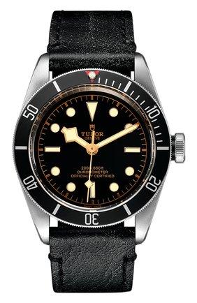 Мужские часы black bay TUDOR черного цвета, арт. 79230N/CALF/BLACK | Фото 1
