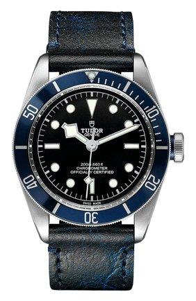 Мужские часы black bay TUDOR черного цвета, арт. 79230B/CALF/BLUE | Фото 1