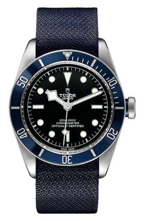 Мужские часы black bay TUDOR черного цвета, арт. 79230B/FABRIC/BLUE | Фото 1