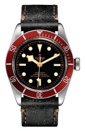 Мужские часы black bay TUDOR черного цвета, арт. 79230R/CALF/BLACK | Фото 1