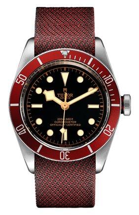 Мужские часы black bay TUDOR черного цвета, арт. 79230R/BURGUNDY FABRIC/BLACK | Фото 1