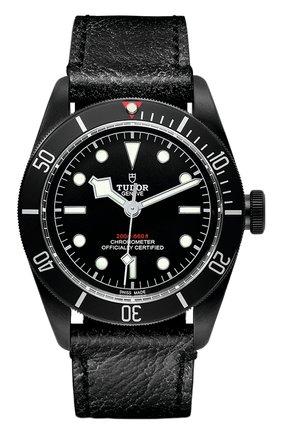 Мужские часы black bay dark TUDOR черного цвета, арт. 79230DK/CALF/BLACK | Фото 1