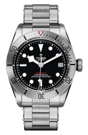 Мужские часы black bay steel TUDOR черного цвета, арт. 79730/72060/BLACK | Фото 1