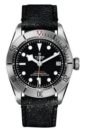 Мужские часы black bay steel TUDOR черного цвета, арт. 79730/CALF/BLACK | Фото 1