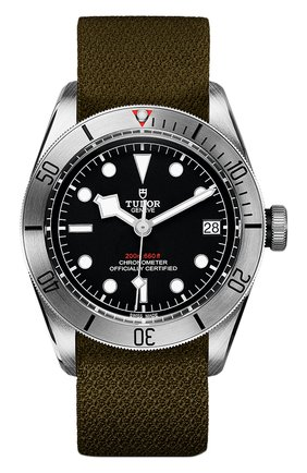 Мужские часы black bay steel TUDOR черного цвета, арт. 79730/KHAKI FABRIC/BLACK | Фото 1