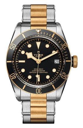 Мужские часы black bay s&g TUDOR черного цвета, арт. 79733N/72063/BLACK | Фото 1