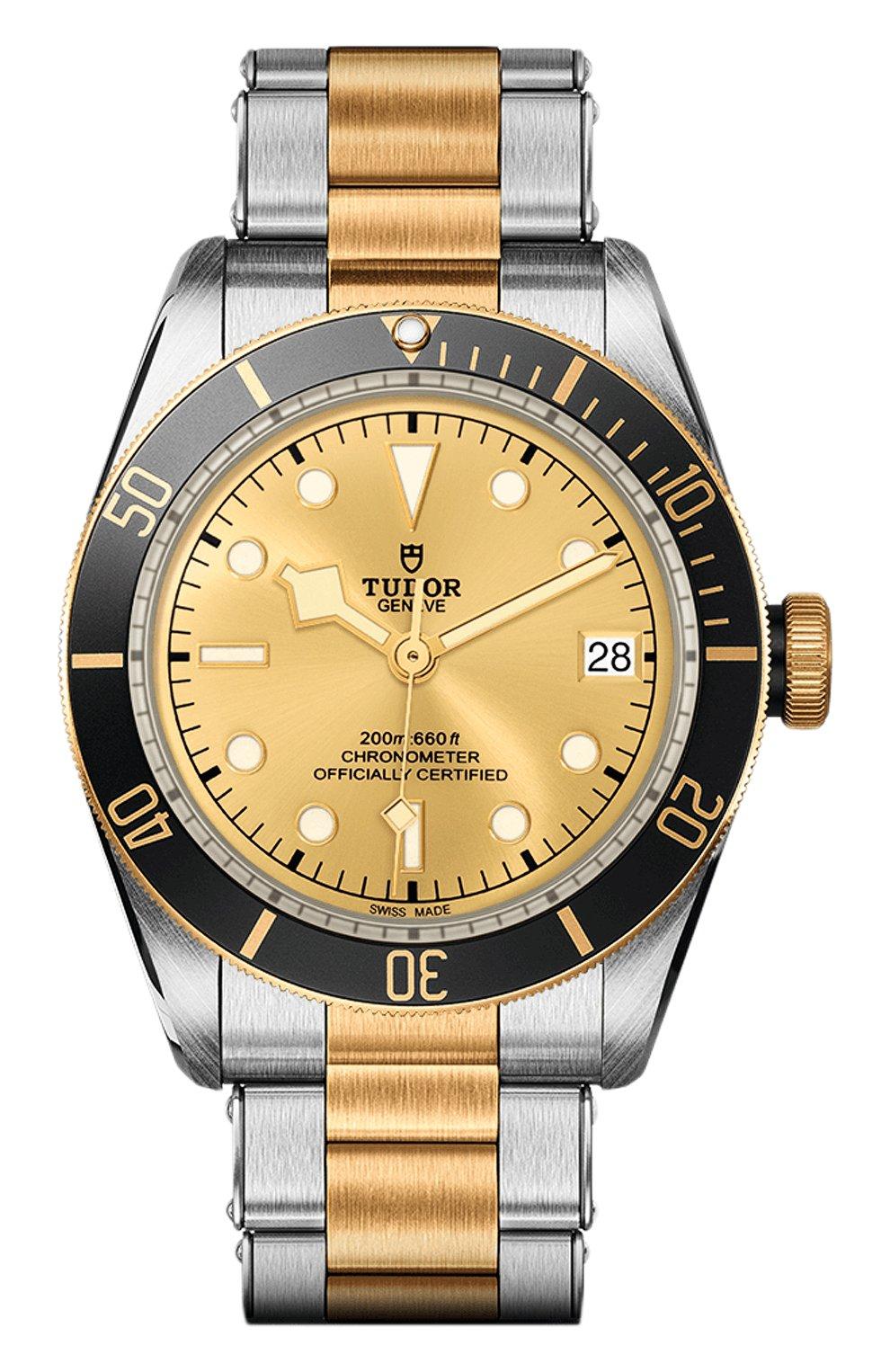 Мужские часы black bay s&g TUDOR бежевого цвета, арт. 79733N/72063/CHAMPAGNE | Фото 1