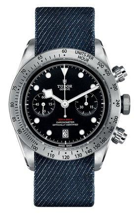 Мужские часы black bay chrono TUDOR черного цвета, арт. 79350/FABRIC/BLACK | Фото 1