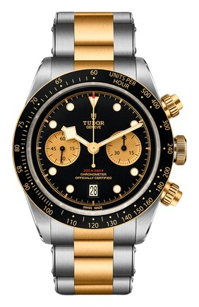 Мужские часы black bay chrono s&g TUDOR черного цвета, арт. 79363N/72063/BLACK CHAMPAGNE | Фото 1