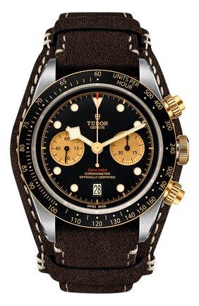 Мужские часы black bay chrono s&g TUDOR черного цвета, арт. 79363N/CALF/BLACK CHAMPAGNE | Фото 1