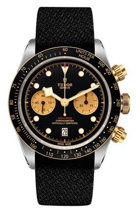 Мужские часы black bay chrono s&g TUDOR черного цвета, арт. 79363/FABRIC/BLACK CHAMPAGNE | Фото 1