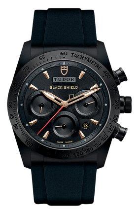 Мужские часы black shield TUDOR черного цвета, арт. 42000CN/BLACK RUBBER/BLACK BRONZE | Фото 1