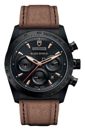 Мужские часы black shield TUDOR черного цвета, арт. 42000CN/CALF/BLACK BRONZE | Фото 1
