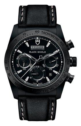 Мужские часы black shield TUDOR черного цвета, арт. 42000CN/CALF/BLACK WHITE | Фото 1