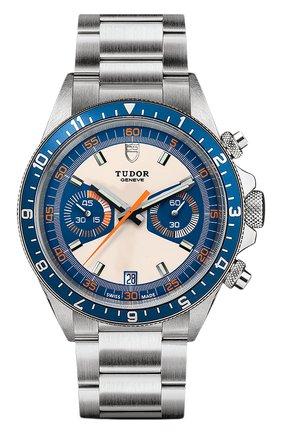 Мужские часы chrono blue TUDOR синего цвета, арт. 70330B/95740/OPALINE BLUE | Фото 1