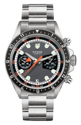 Мужские часы chrono TUDOR черного цвета, арт. 70330N/95740/GREY BLACK | Фото 1