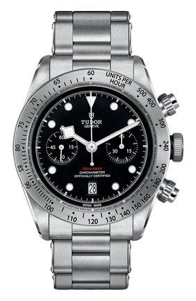 Мужские часы black bay chrono TUDOR черного цвета, арт. 79350/72060/BLACK | Фото 1