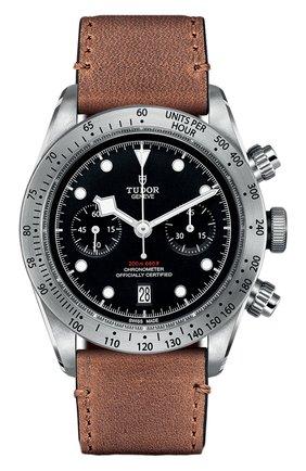 Мужские часы black bay chrono TUDOR черного цвета, арт. 79350/CALF/BLACK | Фото 1