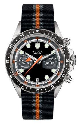 Мужские часы chrono TUDOR  цвета, арт. 70330N/BLACK FABRIC STRAP GREY AND ORANGE/BLACK GR | Фото 1