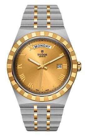 Мужские часы tudor royal TUDOR золотого цвета, арт. 28603/91063/CHAMPAGNE ROM | Фото 1