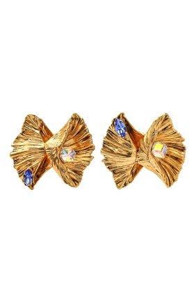 Женские клипсы SAINT LAURENT золотого цвета, арт. 635474/Y1526   Фото 1