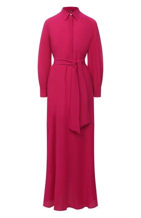 Женское шелковое платье KITON фуксия цвета, арт. D51327K05N70 | Фото 1