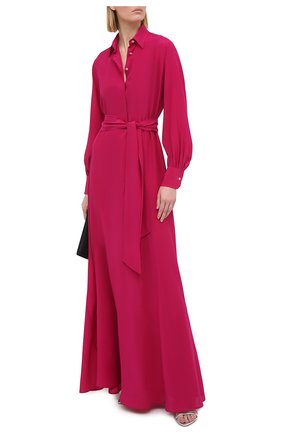 Женское шелковое платье KITON фуксия цвета, арт. D51327K05N70 | Фото 2