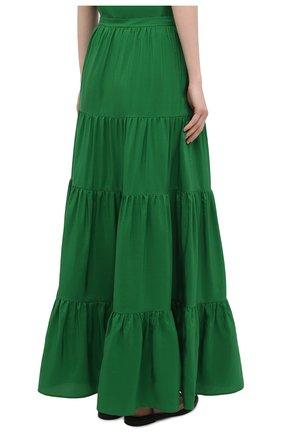 Женская шелковая юбка KITON зеленого цвета, арт. D49214K09T62   Фото 4