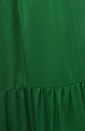 Женская шелковая юбка KITON зеленого цвета, арт. D49214K09T62   Фото 5