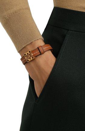 Женский браслет LOEWE коричневого цвета, арт. J242240X14 | Фото 2