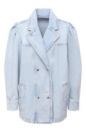 Женская джинсовая куртка ISABEL MARANT ETOILE голубого цвета, арт. VE1575-21P019E/LUCINDAWF | Фото 1