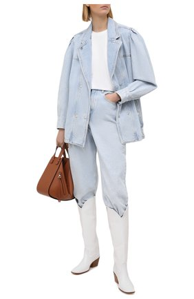 Женская джинсовая куртка ISABEL MARANT ETOILE голубого цвета, арт. VE1575-21P019E/LUCINDAWF | Фото 2