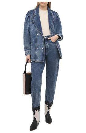 Женская джинсовая куртка ISABEL MARANT ETOILE синего цвета, арт. VE1575-21P019E/LUCINDAWF | Фото 2
