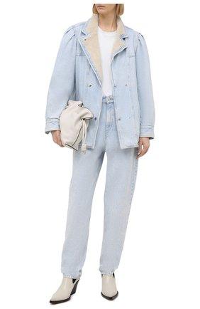 Женская джинсовая куртка ISABEL MARANT ETOILE голубого цвета, арт. VE1528-21P019E/LUCINDA | Фото 2
