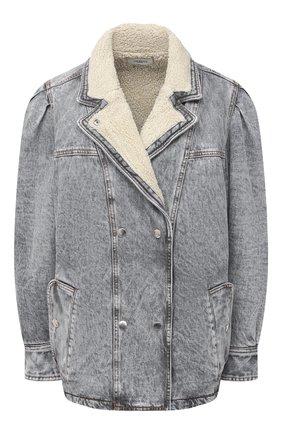 Женская джинсовая куртка ISABEL MARANT ETOILE серого цвета, арт. VE1528-21P019E/LUCINDA | Фото 1