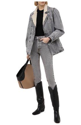 Женская джинсовая куртка ISABEL MARANT ETOILE серого цвета, арт. VE1528-21P019E/LUCINDA | Фото 2
