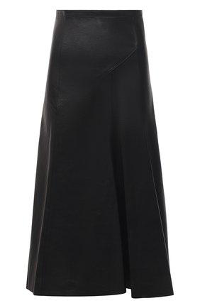 Женская кожаная юбка ISABEL MARANT черного цвета, арт. JU1268-21P001I/B0KISSA | Фото 1
